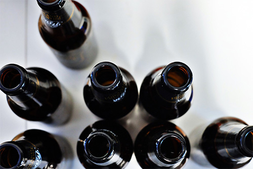 black beer bottles