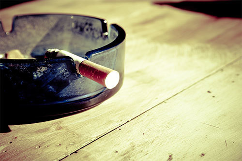 cigarette in an ashtray