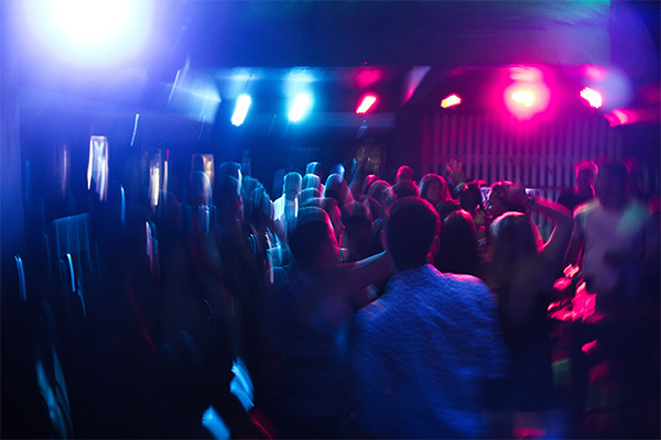 people dancing at a nightclub